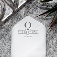 personalised Ornate Best Man Pocket Square