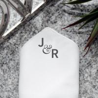 personalised Ornate Ampersand Pocket Square