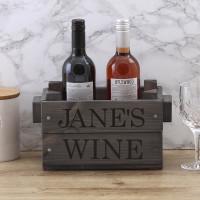 personalised wine crate