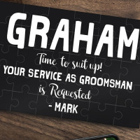 personalised Groomsman Jigsaw Puzzle