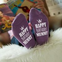 personalised birthday crown socks