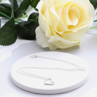 personalised Silver Heart Pendant