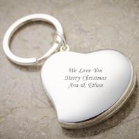 Personalised Heart Photo Keyring