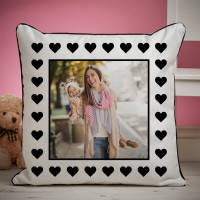 personalised Love Heart Piped Cushion