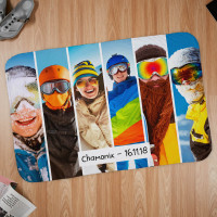 personalised Holiday 6 Photo Blanket