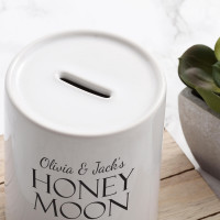 personalised Honeymoon Fund Personalised Money Box