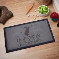 personalised Hop on in Doormat