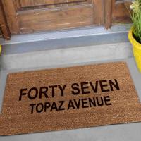 personalised coir doormat