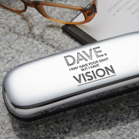 personalised I have visiion glasses case