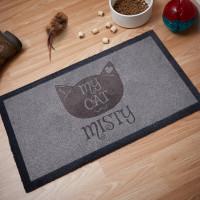 personalised I Heart My Cat Doormat