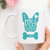 Personalised I love My Frenchie Durham Mug