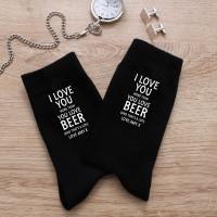 personalised More Than Beer Black Socks