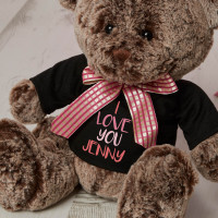 Personalised Pink i Love You Coco Teddy Bear