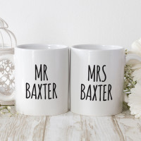 personalised i stole his last name matching mugs