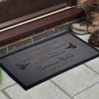 personalised in memory doormat