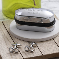 personalised Infinity Cufflinks Gift Set