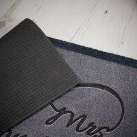 personalised infinity couple doormat