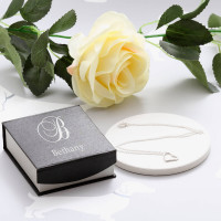 personalised Initial Silver Heart Pendant