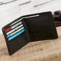 personalised Grey Tweed Wallet and Key Ring Set