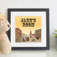 Personalised Cowboy Children's Wall Art