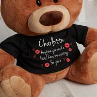 Personalised Kisses Caramel Charlie Teddy Bear