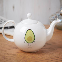 Personalised Let's Avocuddle Pot Belly Teapot