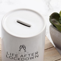 personalised Life After Lockdown Money Box