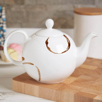 Personalised Life Begins After Tea Bone China Pot Belly Teapot