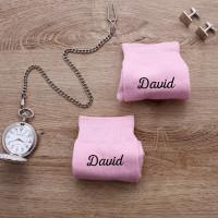 personalised pink name socks