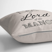"""Personalised Lord of the Manor 18x18"""" Cotton Cushion"""