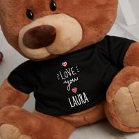 Personalised Love You Chocolate Teddy Bear