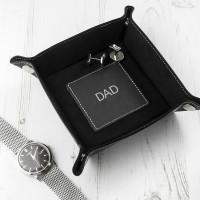 Luxury Black Personalised Valet Tray