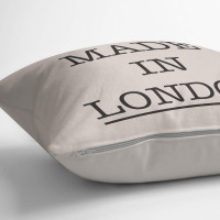 personalised Made in City Cotton Cushion