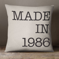 personalised Made In Year Cotton Cushion