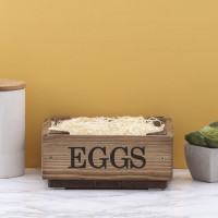 personalised Rustic Egg Crate