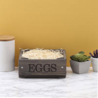 personalised Grey Egg Crate