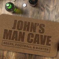 personalised Man Cave Outdoor Engraved Doormat