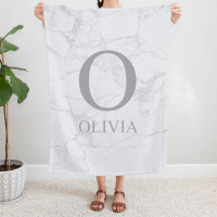 personalised Marble Monogram Blanket