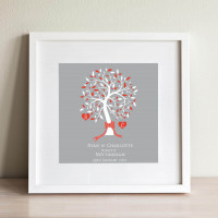 personalised Marriage Tree Wall Art