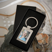Personalised Personalised Friend Photo Upload Metal Keyring