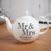 personalised Mr & Mrs Pot Belly Teapot