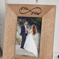 personalised infinity wood photo frame