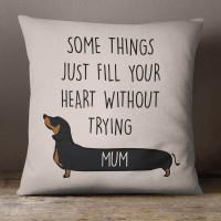 personalised Sausage Dog Cotton Cushion