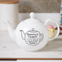 personalised 'Mummy's' Pot Belly Teapot