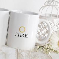 Personalised 20th anniversary matching mugs