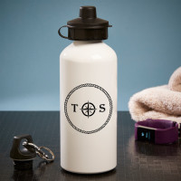 Personalised nautical initial White Water Bottle