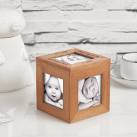New baby wood photo cube