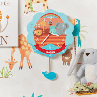 personalised Noah's Ark Pendulum Clock