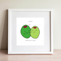 personalised Olive You Wall Art