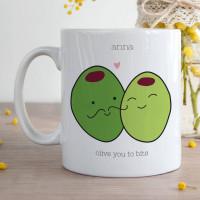 Personalised Olive you Durham Mug